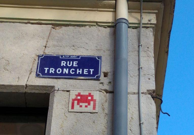 Space Invader, ONPC, Lyon, Street Art